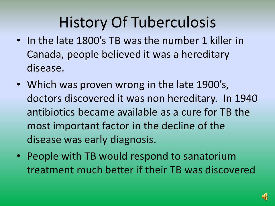 History Of Tuberculosis