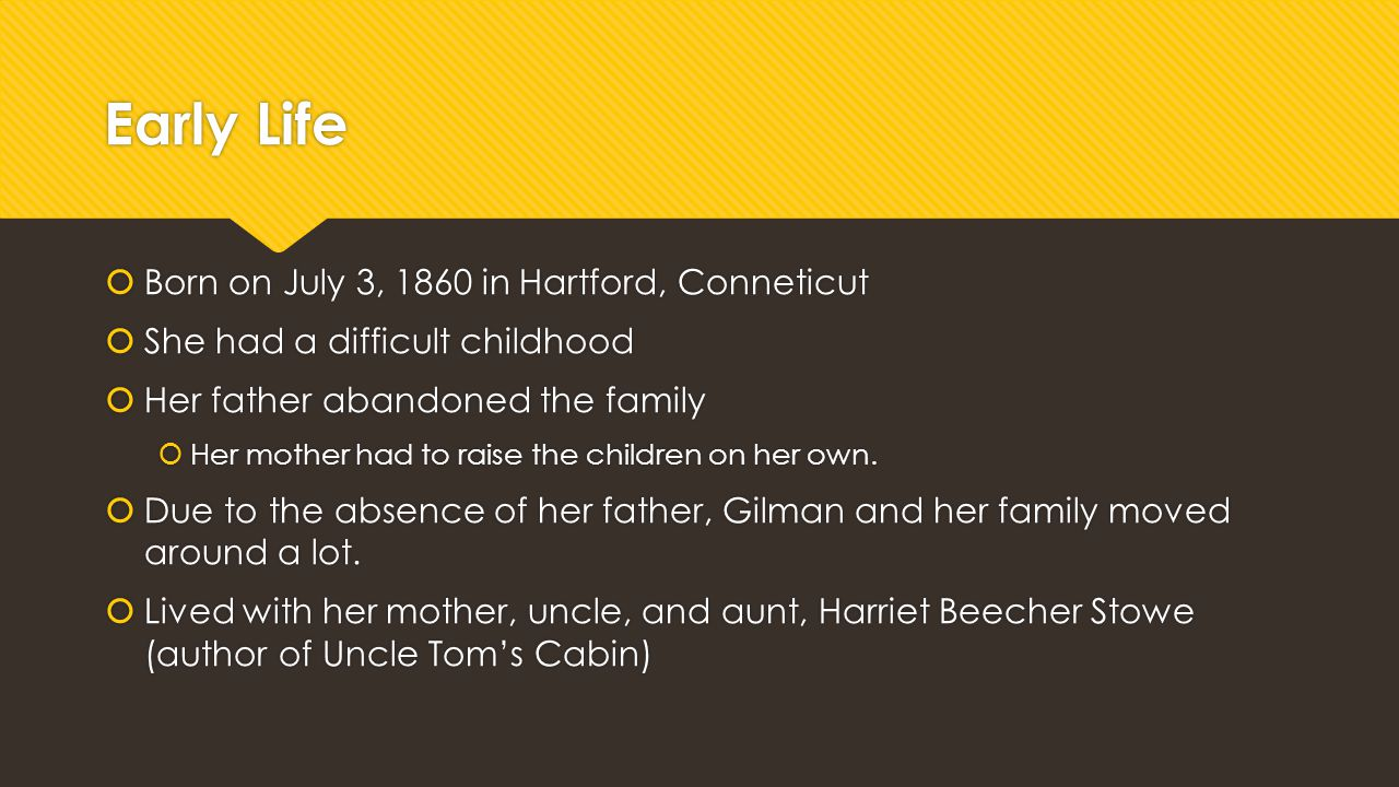 Early Life Born on July 3, 1860 in Hartford, Conneticut