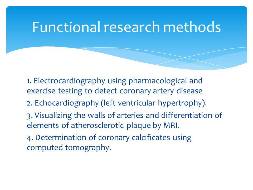 Functional research methods