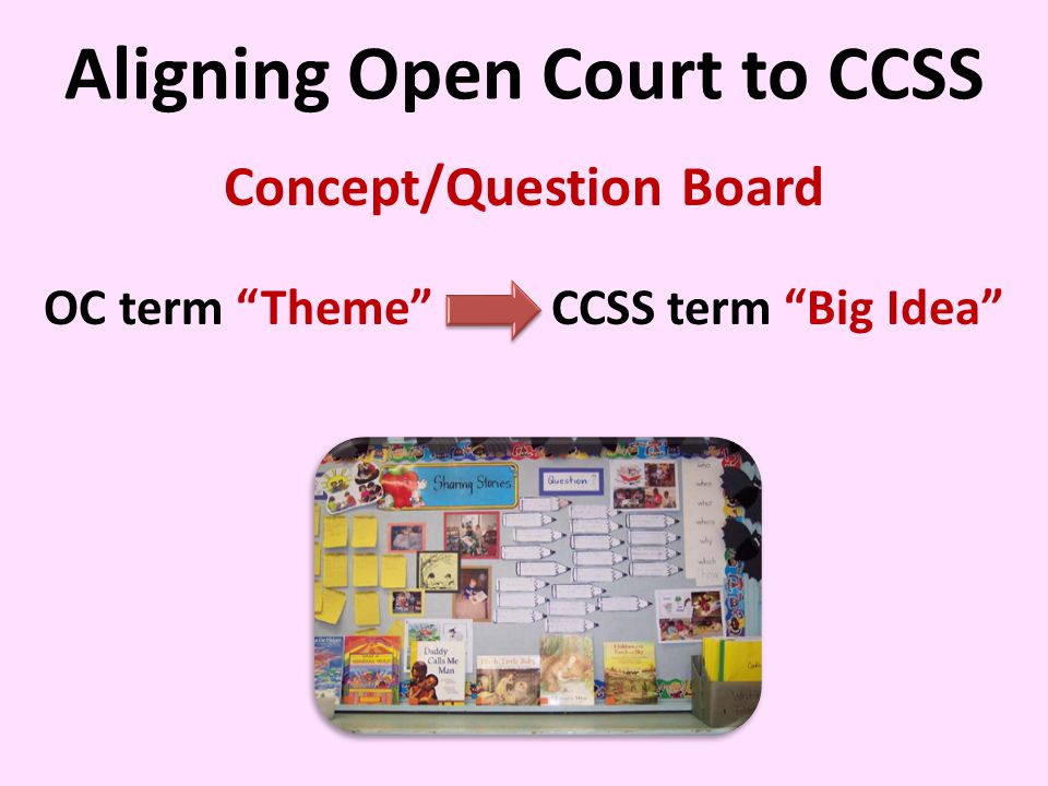 Aligning Open Court to CCSS