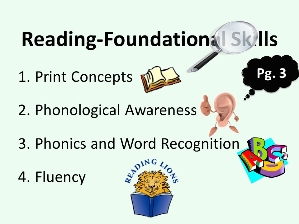Reading-Foundational Skills