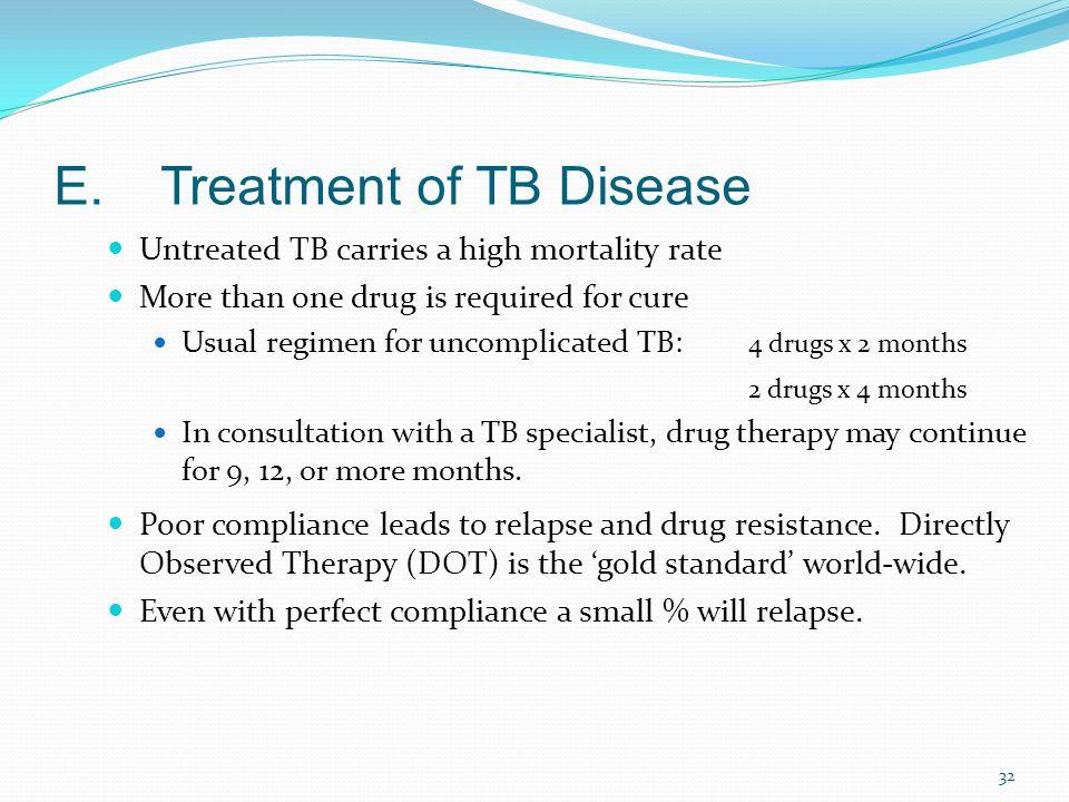 E. Treatment of TB Disease
