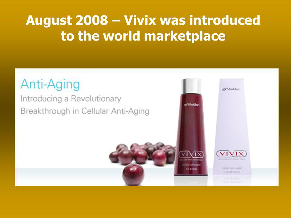 August 2008 – Vivix was introduced to the world marketplace