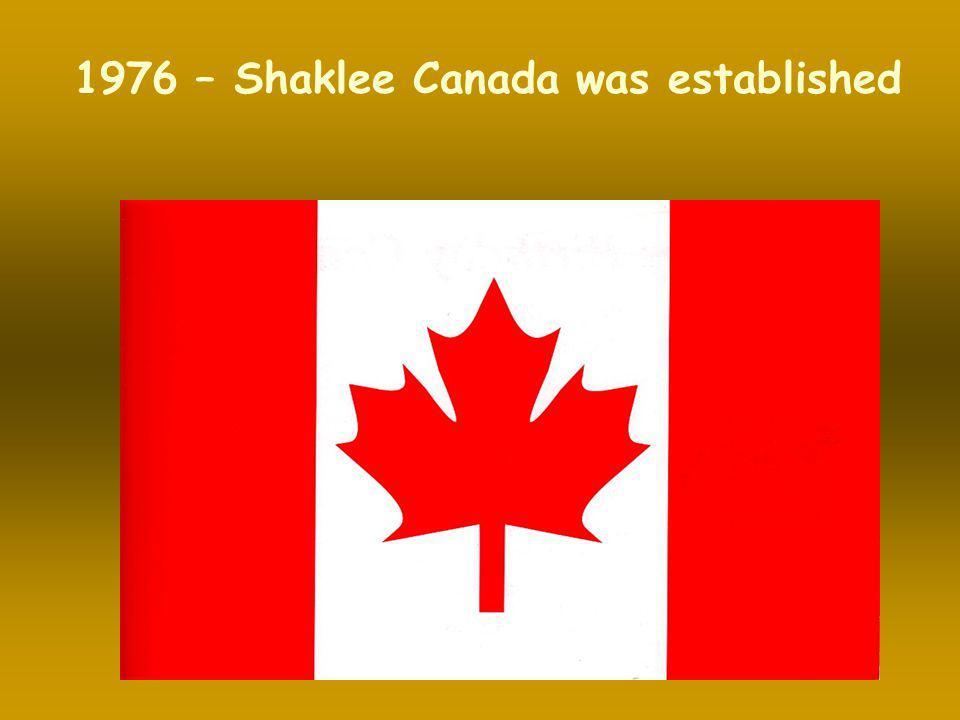 1976 – Shaklee Canada was established