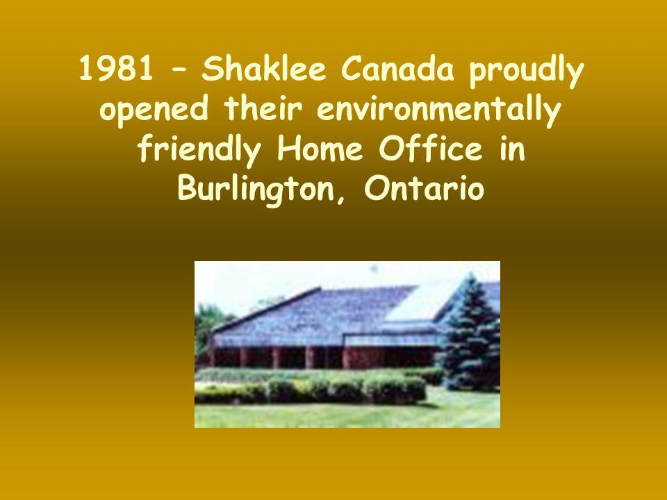 1981 – Shaklee Canada proudly opened their environmentally friendly Home Office in