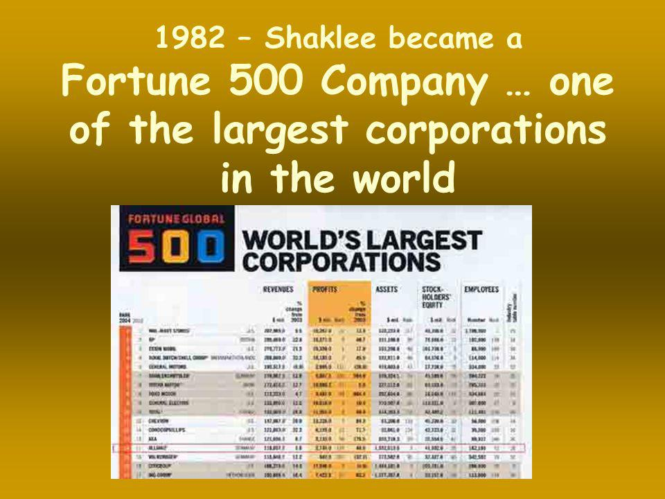 Fortune 500 Company … one of the largest corporations in the world
