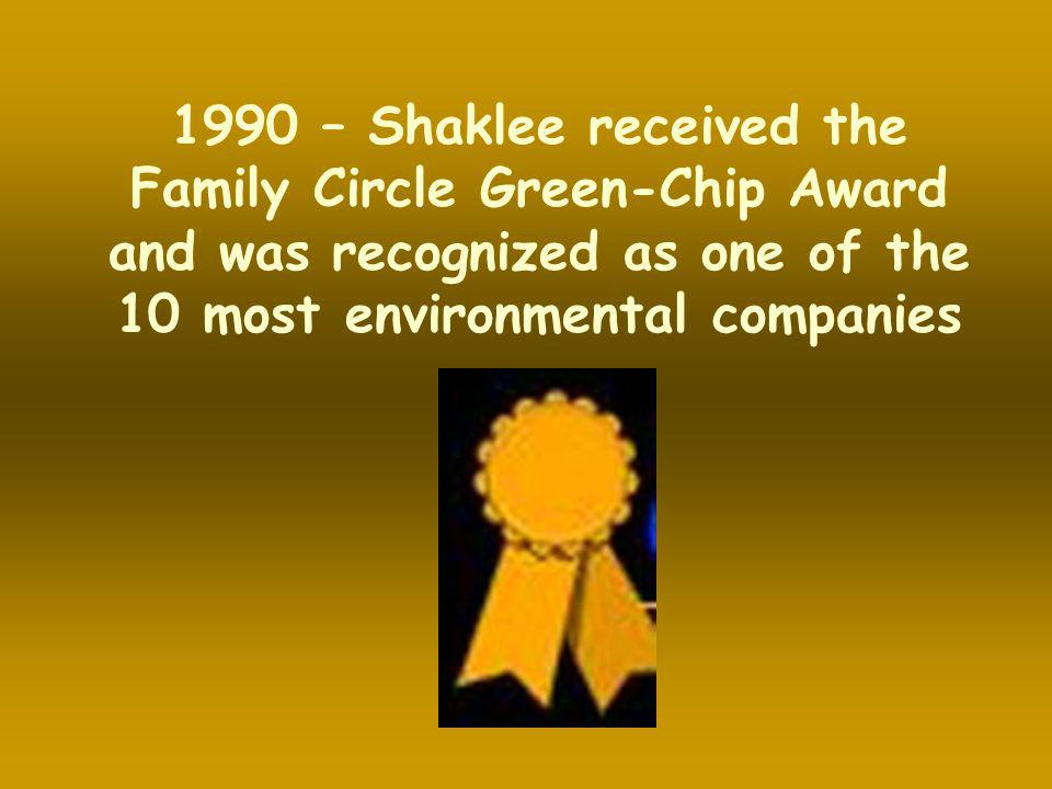 Family Circle Green-Chip Award and was recognized as one of the