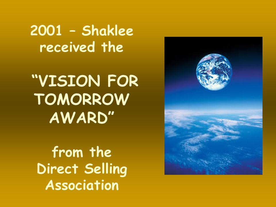 VISION FOR TOMORROW AWARD Direct Selling Association