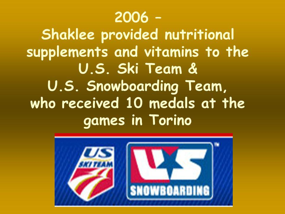 Shaklee provided nutritional supplements and vitamins to the