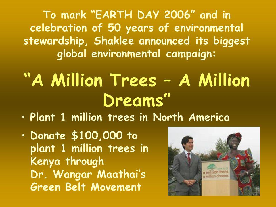 A Million Trees – A Million Dreams