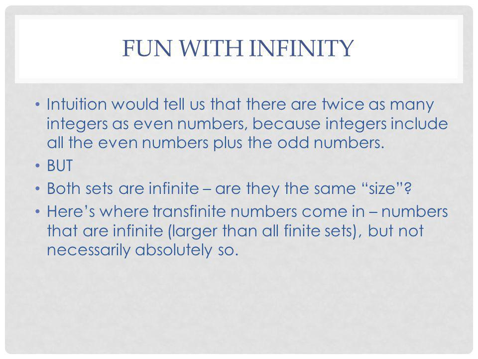 Fun With Infinity