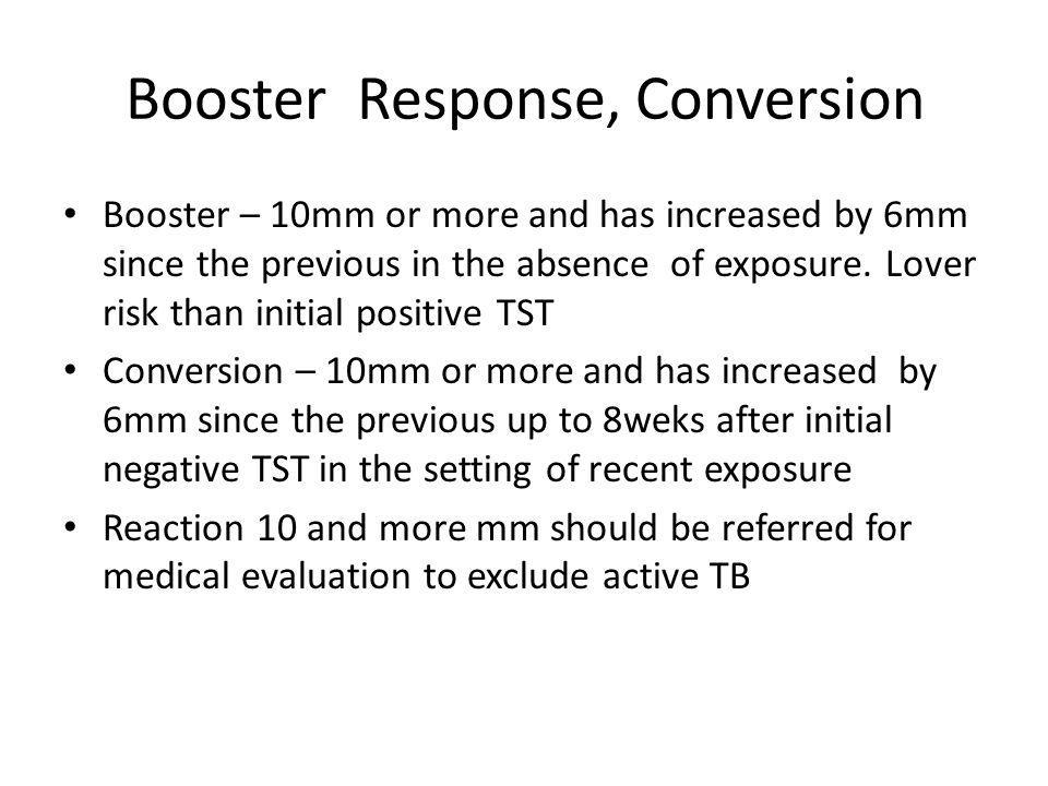 Booster Response, Conversion