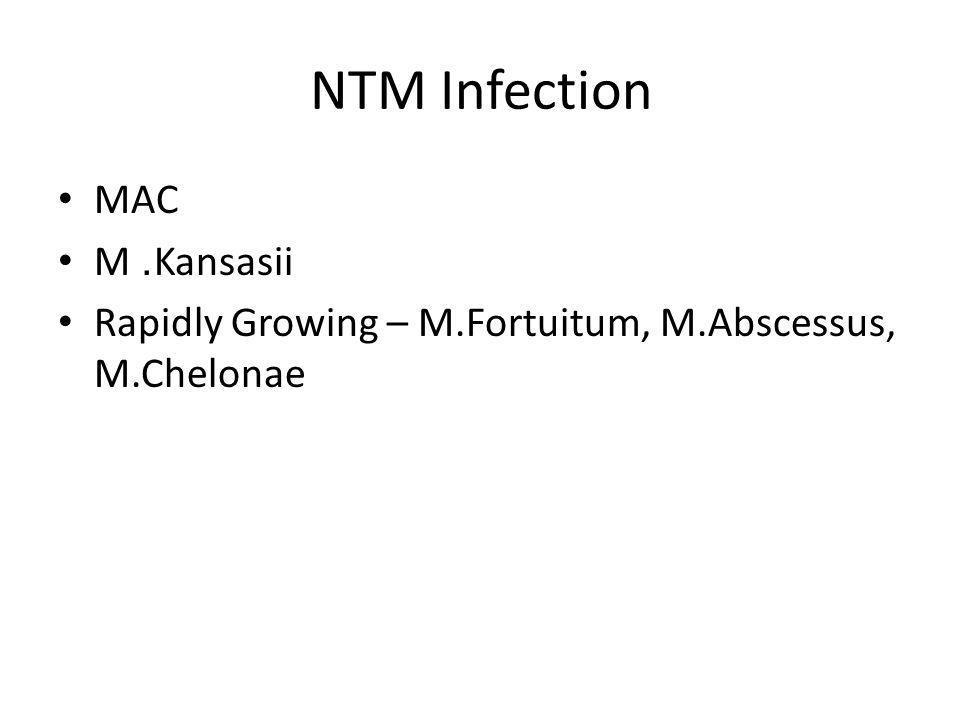 NTM Infection MAC M. Kansasii