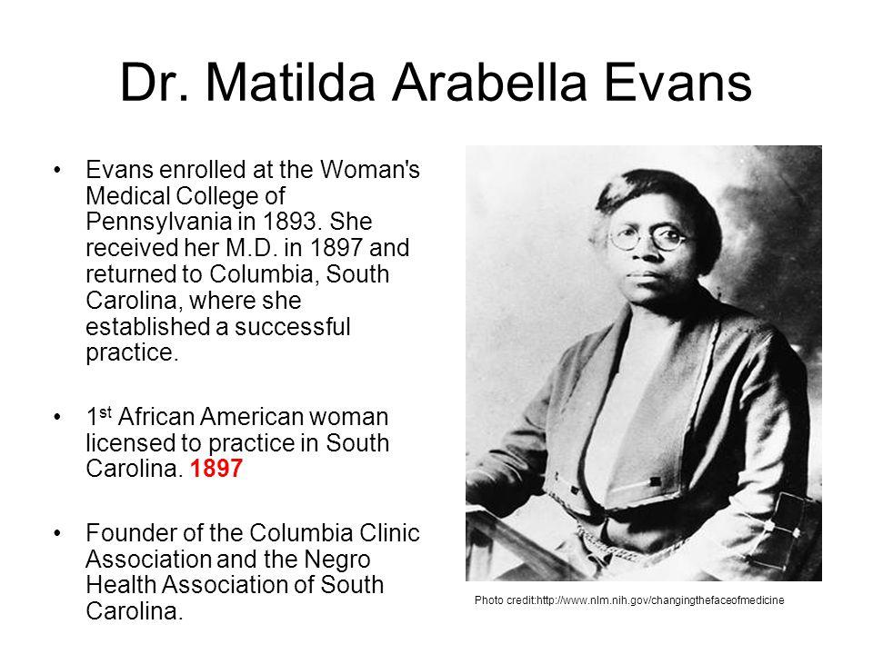 Dr. Matilda Arabella Evans