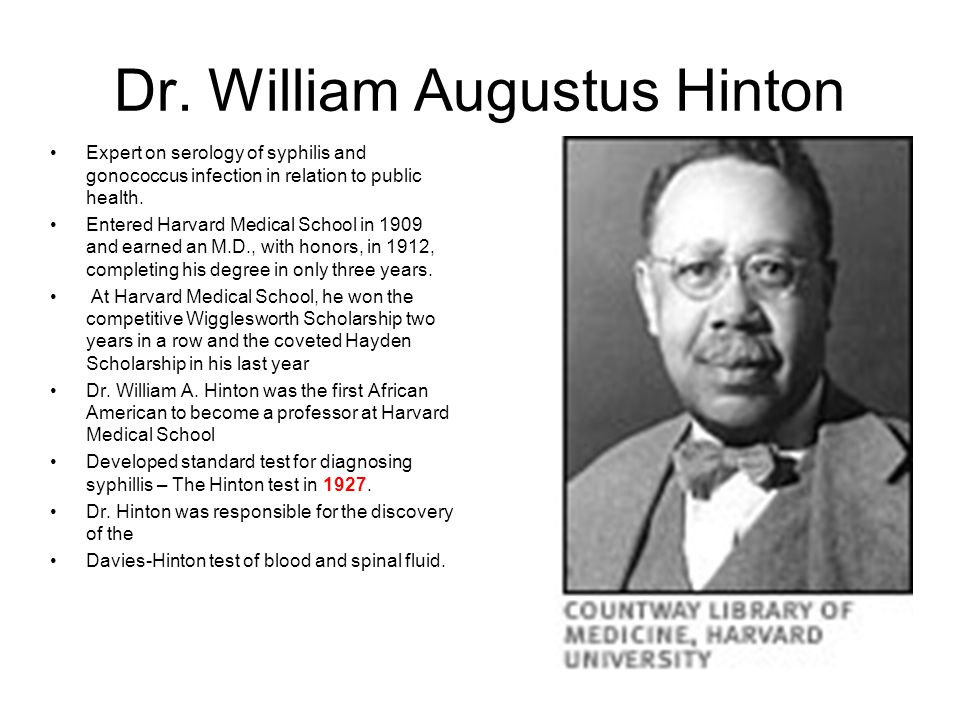 Dr. William Augustus Hinton