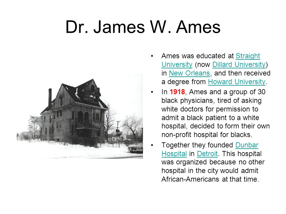 Dr. James W. Ames