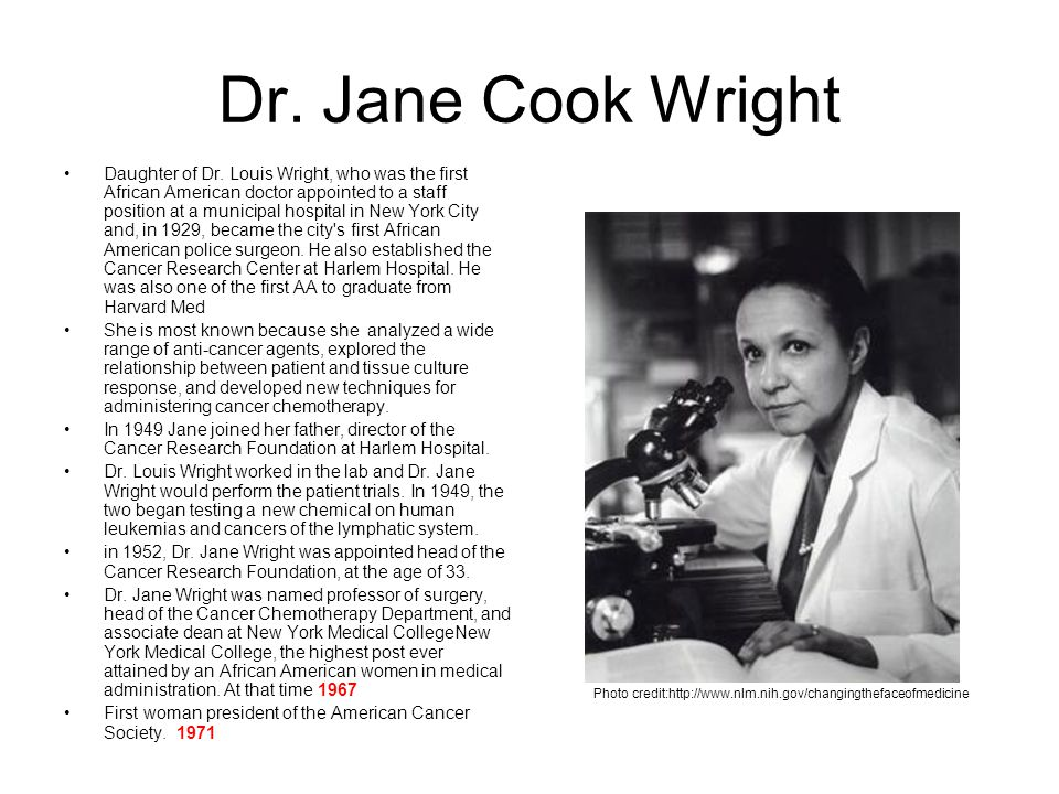 Dr. Jane Cook Wright