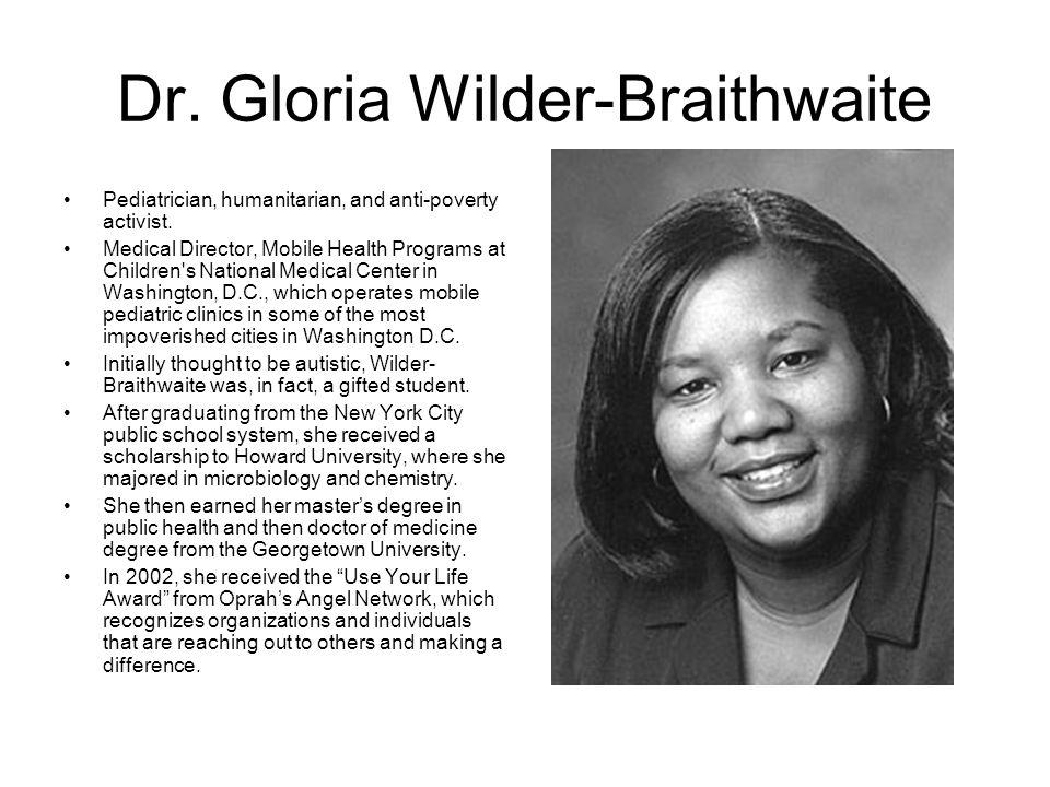 Dr. Gloria Wilder-Braithwaite