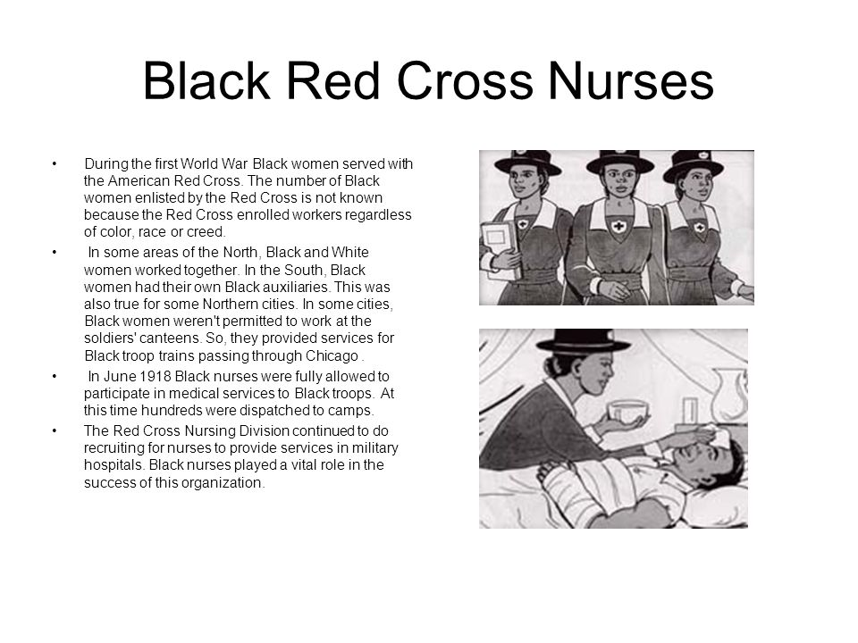 Black Red Cross Nurses
