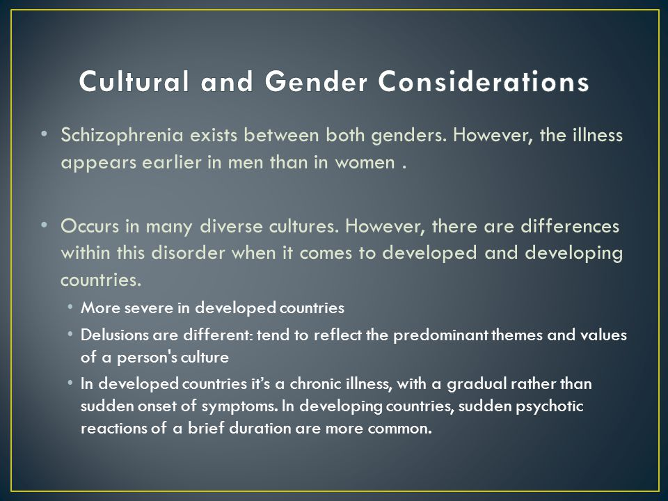 Cultural and Gender Considerations