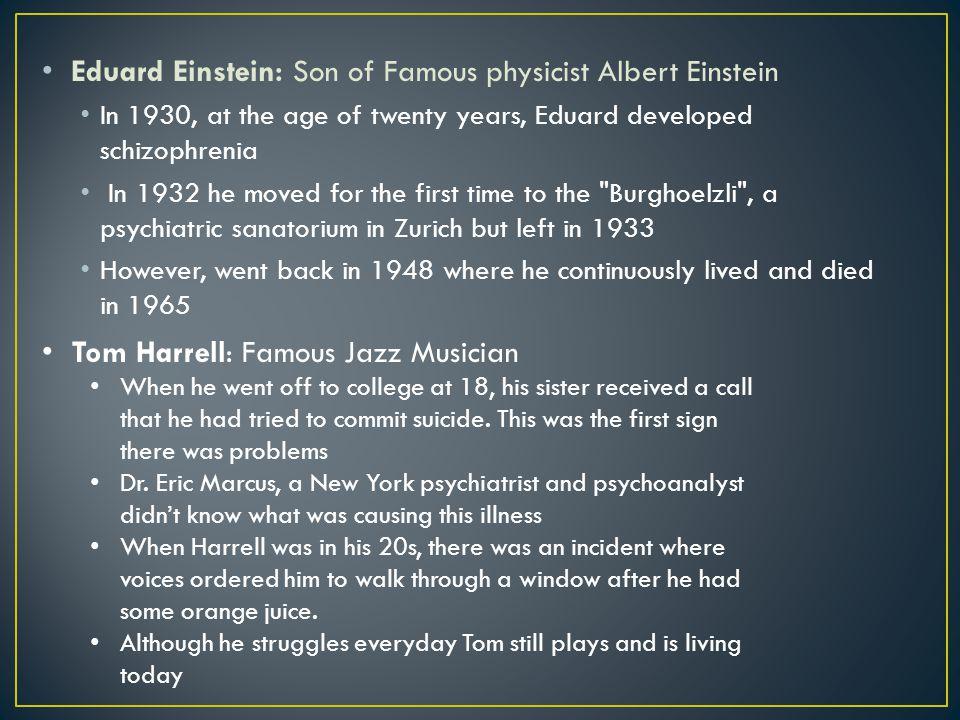 Eduard Einstein: Son of Famous physicist Albert Einstein