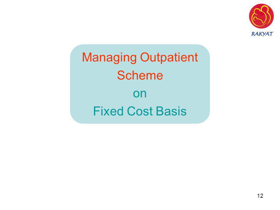 Managing Outpatient Scheme on Fixed Cost Basis