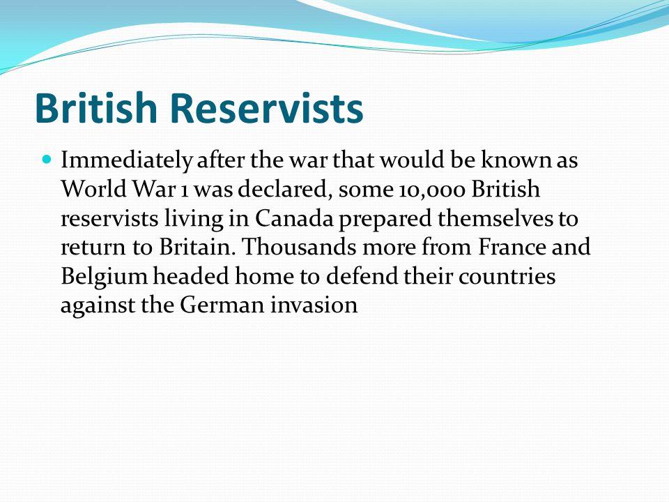 British Reservists