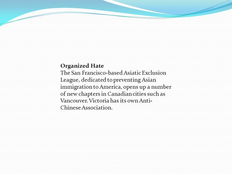 Organized Hate