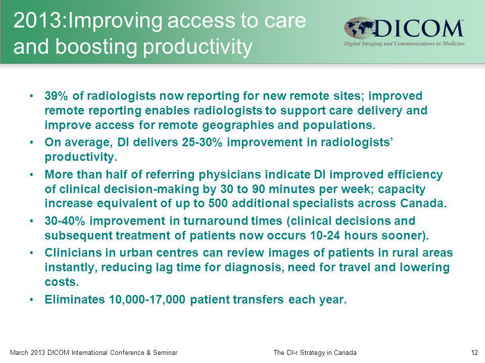 2013:Improving access to care and boosting productivity
