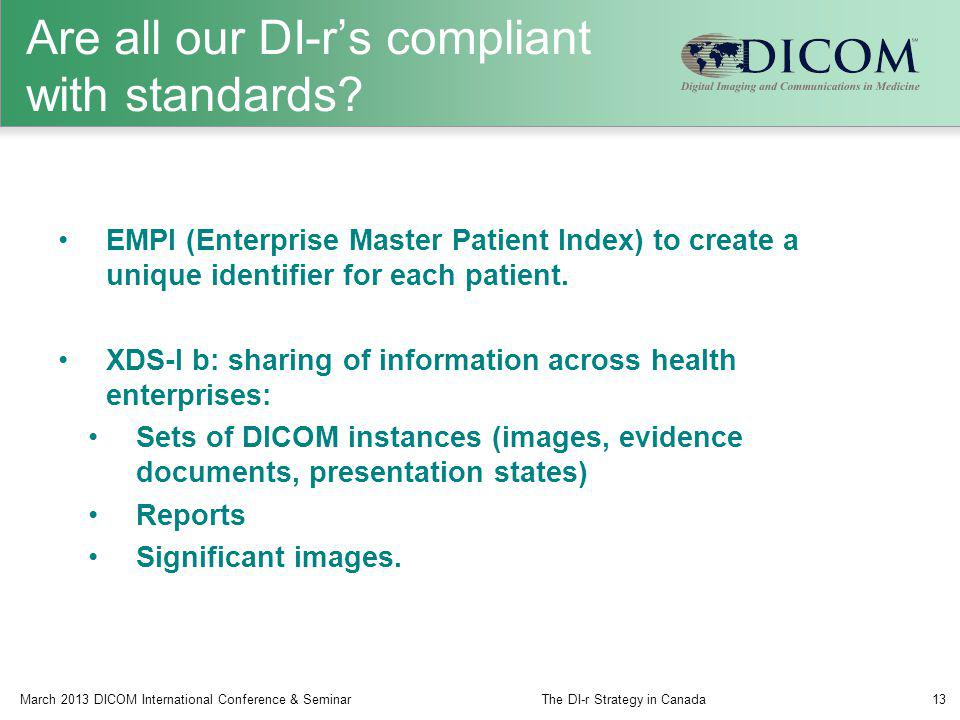 Are all our DI-r's compliant with standards