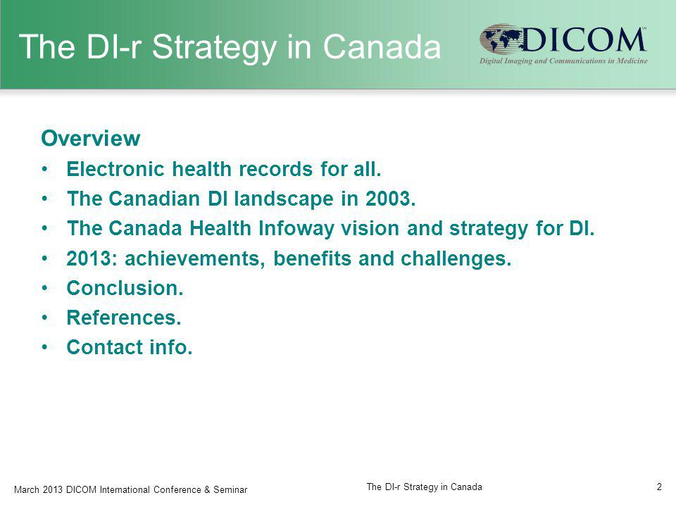 The DI-r Strategy in Canada