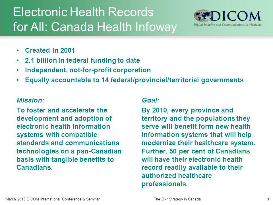 Electronic Health Records for All: Canada Health Infoway