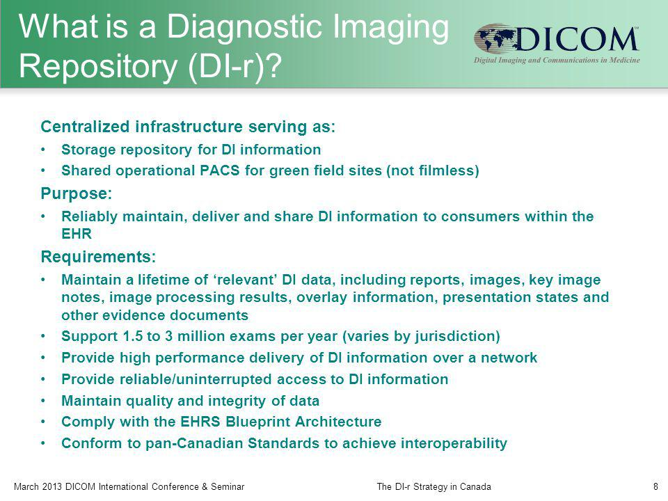 What is a Diagnostic Imaging Repository (DI-r)