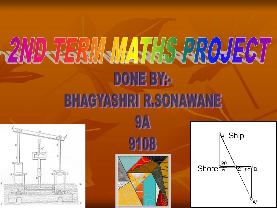 2ND TERM MATHS PROJECT DONE BY:- BHAGYASHRI R.SONAWANE 9A 9108
