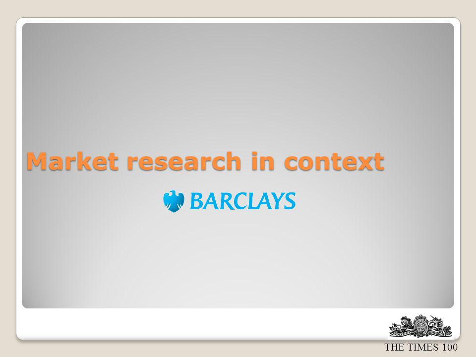 Market research in context