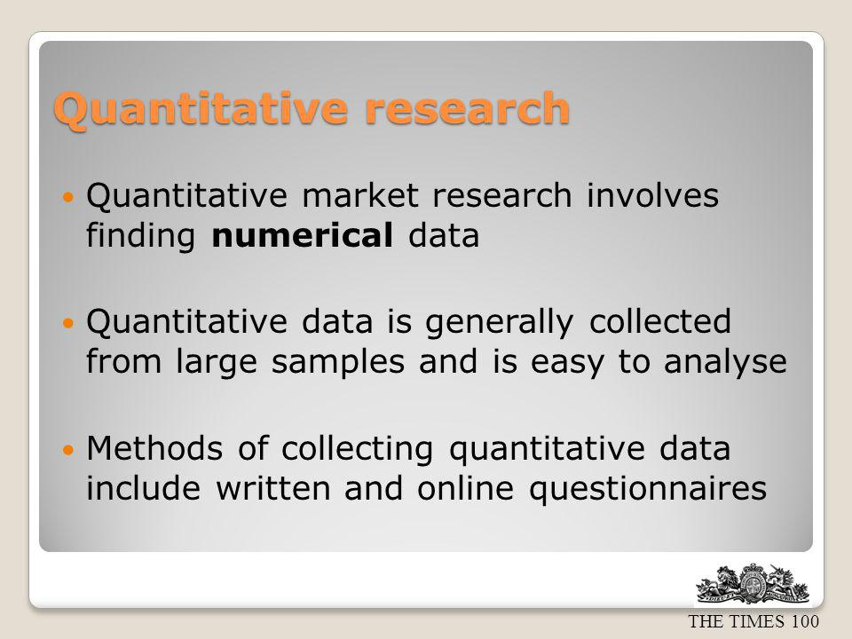 quantitative market research The marriage of quantitative research and qualitative research can be a powerful  research approach—and this is not a new idea.