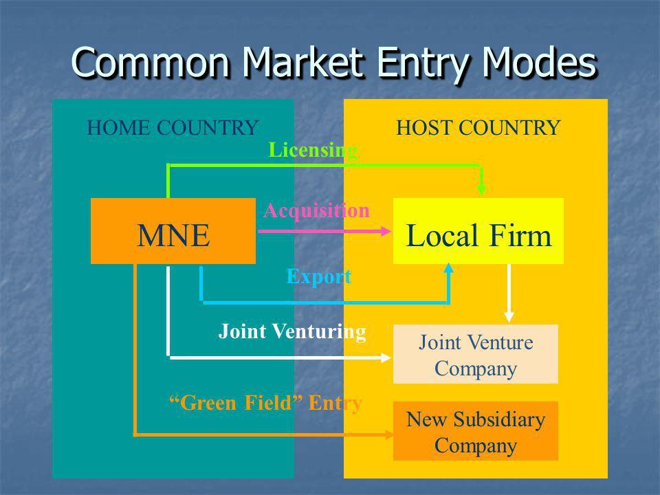 Common Market Entry Modes