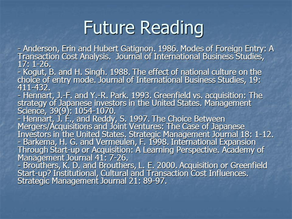 Future Reading