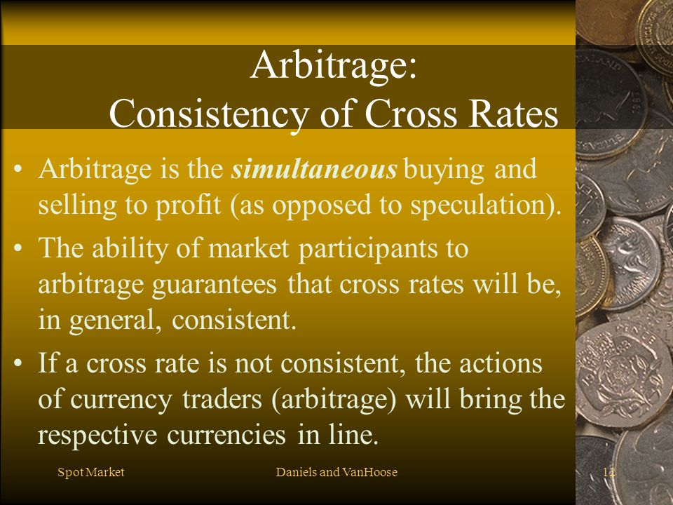 Arbitrage: Consistency of Cross Rates