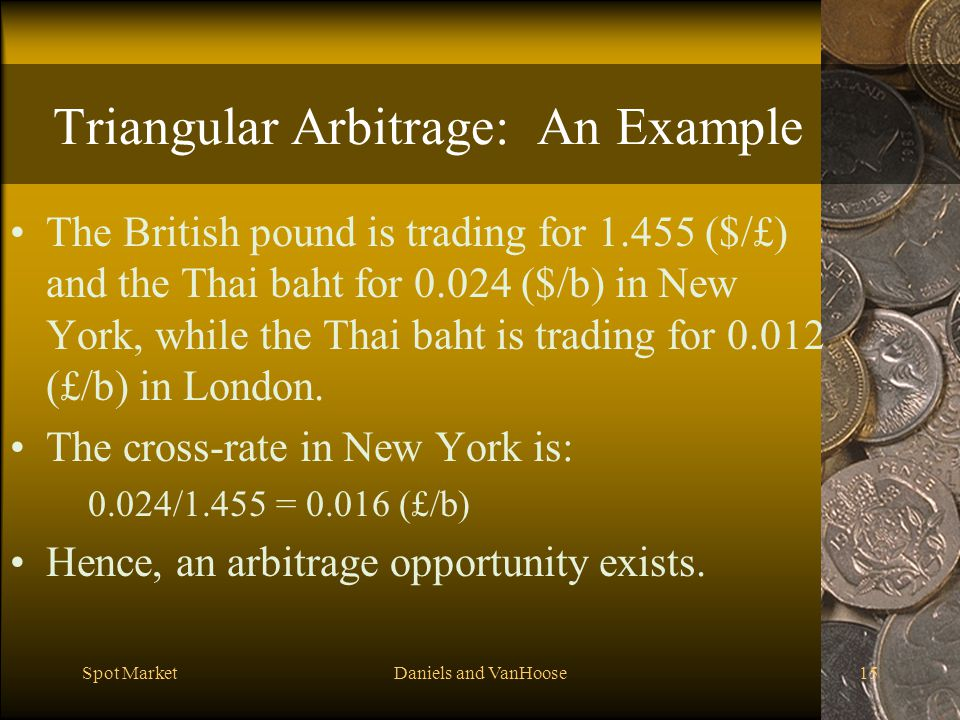 Triangular Arbitrage: An Example