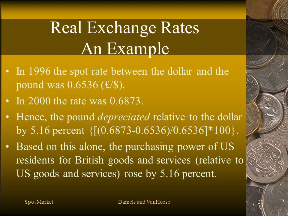 Real Exchange Rates An Example