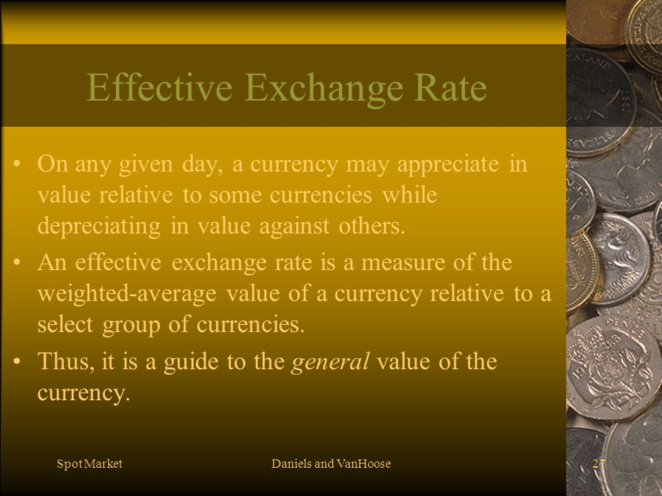 Effective Exchange Rate
