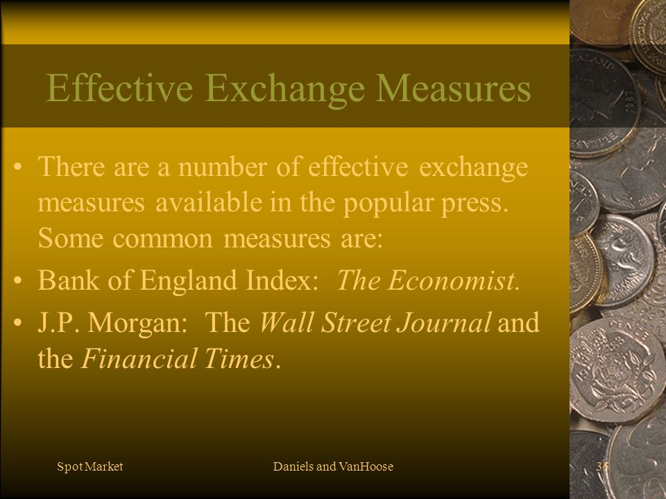 Effective Exchange Measures