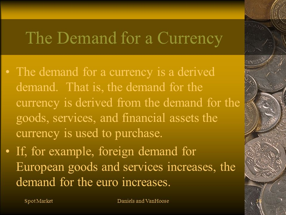 The Demand for a Currency
