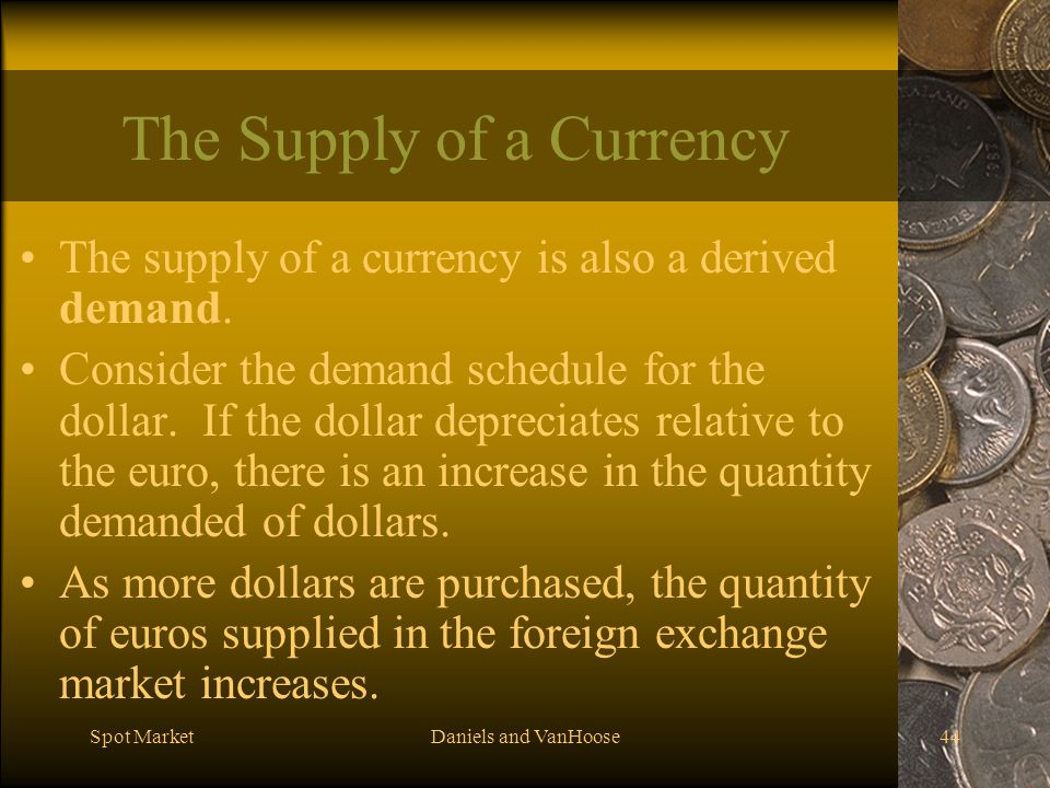 The Supply of a Currency