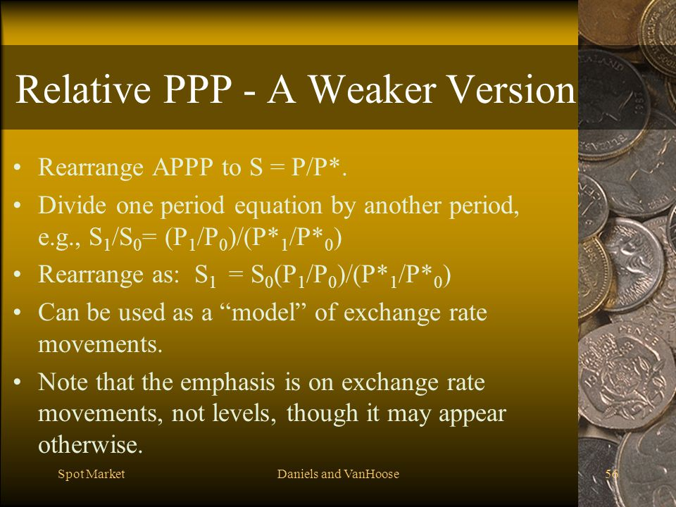 Relative PPP - A Weaker Version