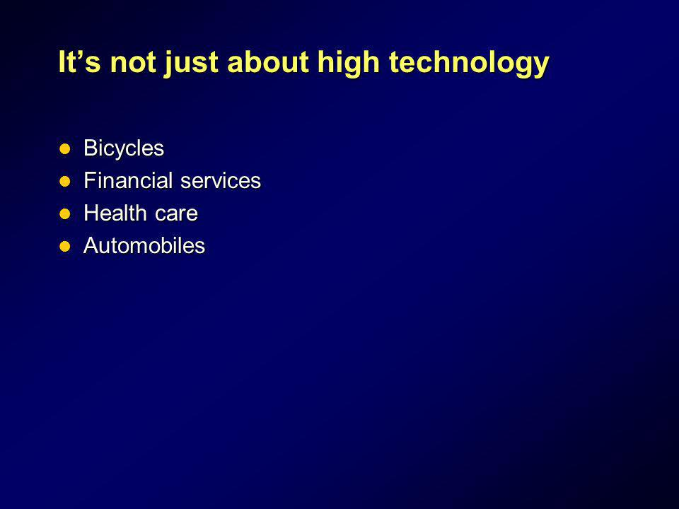 It's not just about high technology
