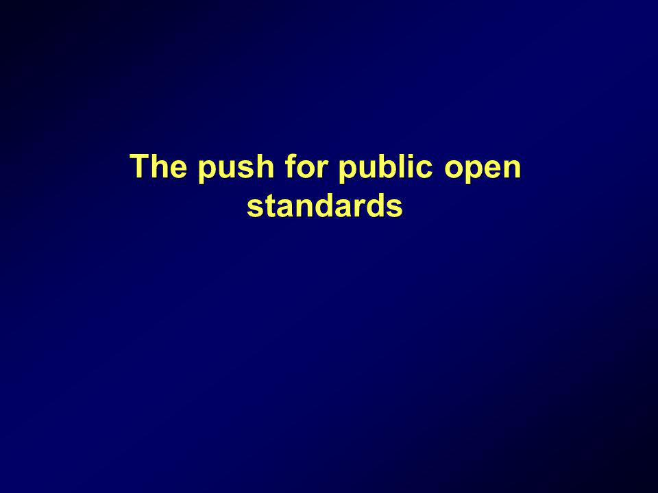 The push for public open standards