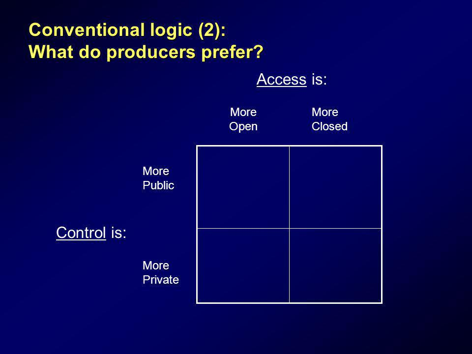 Conventional logic (2): What do producers prefer