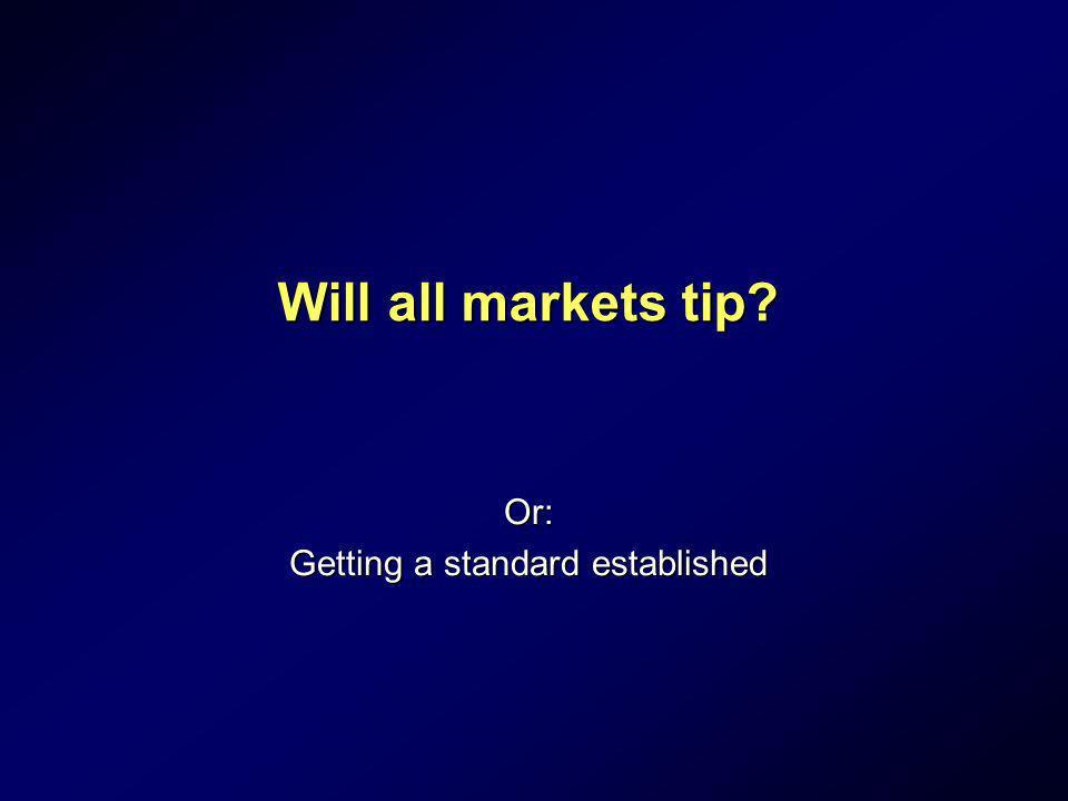 Or: Getting a standard established